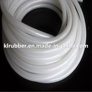 Food Grade Platinum Cured Transparent Polyester Braided Silicone Rubber Hose pictures & photos