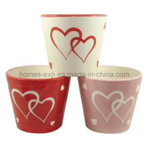 Pretty New Fashion Valentines′ Ceramic Flower Pots