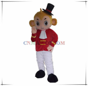 Funny Monkey Mascot Costume with a Black Hat