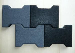 Different Shape Recycled Rubber Flooring Tile pictures & photos
