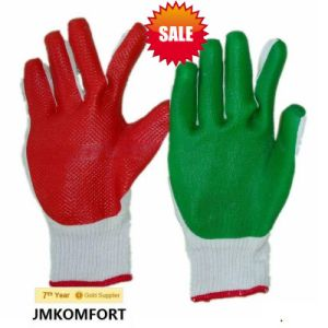 Industrial Green Coated Labor Work Rubber Glove (JMC-423A) pictures & photos