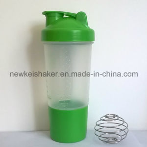 Patented 500ml Nutrition Shaker Bottle with Pill Container pictures & photos