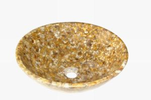Washing Basin River Stone Resin Basin pictures & photos