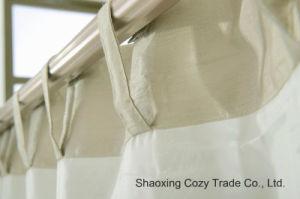 Plain Faux Silk Curtains, 100% Polyester Slub Silk Curtains Full Line pictures & photos
