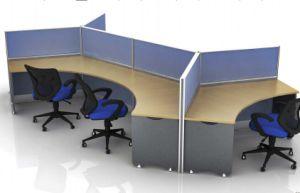 MFC Wooden Furniture 6 Seat Workstation Partition (DA-068)