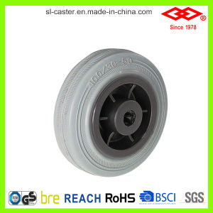160mm Grey Rubber Bolt Hole with Brake Industrial Castor (G102-32D160X40S) pictures & photos