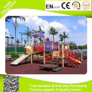 Color Thickness Can Be Customized Black with EPDM Granule Rubber Flooring for Children Playground pictures & photos
