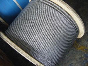 6X7+FC Galvanized Steel Wire Rope with Wooden Reel pictures & photos