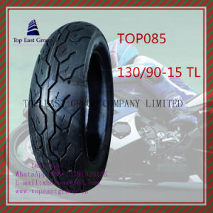 Size 130/90-15tl Good Quality, Tubeless ISO Nylon 6pr Motorcycle Tyre pictures & photos