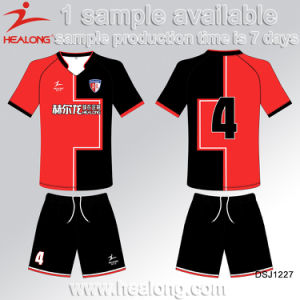 Healong Factory Price Sublimation Men′s Soccer Team Jersey pictures & photos