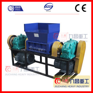 Double Shaft Shredder Tire Plastic Machine Glass pictures & photos
