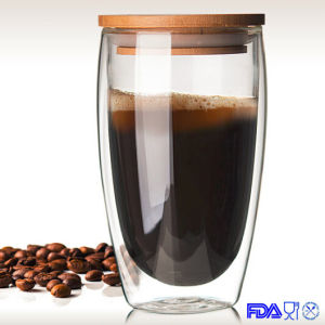 Double Wall Glass Mug Coffee Cup Water Cup (450ml) pictures & photos