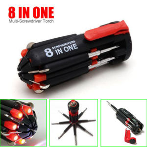 8 in 1 Screwdriver, LED Screwdriver pictures & photos