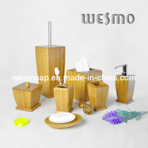 Beauty Care Products Carbonized Bamboo Bathroom Set (WBB0622A) pictures & photos