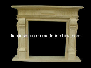 Egyptian Beige Marble Fireplace (FRP320) pictures & photos