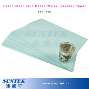 Laser Blue Based Clear Water Slide Decal Paper pictures & photos