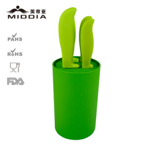 High-End Ceramic Kitchen Knife Set with Holder pictures & photos