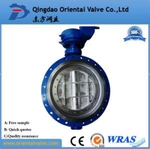 Cast Iron Double Flange Butterfly Valve Good Price pictures & photos