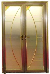 Customized High Quality Aluminum Casement Door with Tinted Glass (ACD-015) pictures & photos