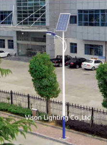 Steel Pole Solar Street Lighting with LED Lamp