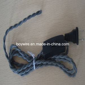 Braided Table Lamp Wire (Plug and Switch) pictures & photos