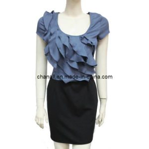 Women Ruffle Fancy Evening Dress