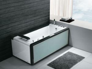 New Luxury Tempered Glass Skirt Acrylic Bath Tub K-617