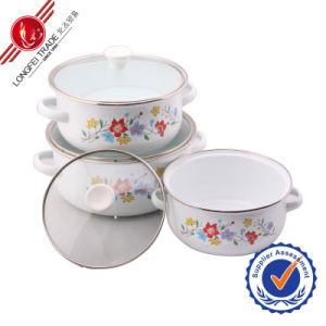 Classical Eco-Friendly Kitchenware Enamel Cookware Set pictures & photos