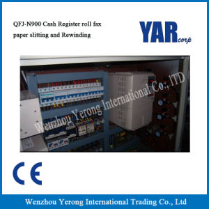Qfj-N900 Cash Register Roll Fax Paper Slitting and Rewinding Machine pictures & photos