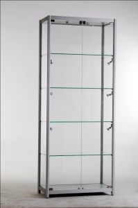 Aluminium Frame Showcase Glass Wall Cabinet