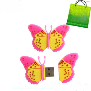 PVC USB Pendrive Flash Butterfly pictures & photos