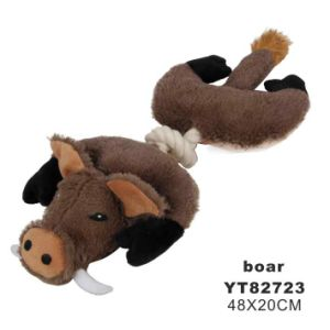Wild Animal Shape Durable Chew Fabric Dog Toy (YT82723) pictures & photos