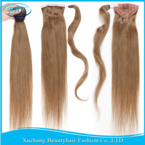 Straight Human Hair Ponytail Extensions Pure Color Peruvian Remy Clip Human Hair Ponytails 100g Human Hair Drawstring Ponytail pictures & photos