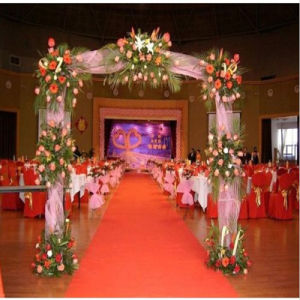 Polyester White Fireproof Carpet for Wedding pictures & photos