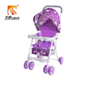Lightweight Plastic Seat Red Baby Stroller with 6 EVA Wheels pictures & photos