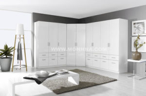White Lacquer Wardrobe with ISO and E1 Standard