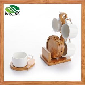 Ceramic Cup & Bamboo Saucer Set pictures & photos