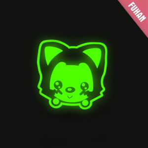Garment Cartoon Logo Luminous Heat Transfer Label pictures & photos