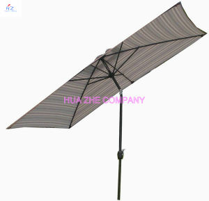 Hz-Um145 6X10ft (2X3m) Umbrella Crank Umbrella with Tilt Outdoor Parasol Garden Umbrella Patio Umbrella pictures & photos