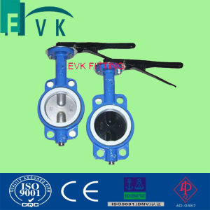 DIN Wafer Cast Iron Resilient Seated Butterfly Valve with Pn16
