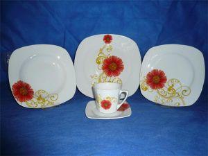 Square Ceramic Dinnerware Set, Square Tableware Set, Dinner Plate
