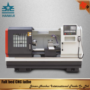 CNC Flat Bed Lathe with Max Swing Over Slide 600mm pictures & photos