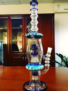 Bio Hazard Glass Straight Ice Water Pipe with Ash Catcher pictures & photos
