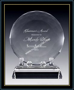 """Faceted Crystal Disk Award Plaques for Singer 6"""" Dia (NU-CW722) pictures & photos"""