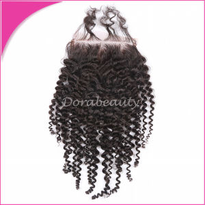 Brazilian Virgin Remy Hair Kinky Curly Top Lace Closure pictures & photos