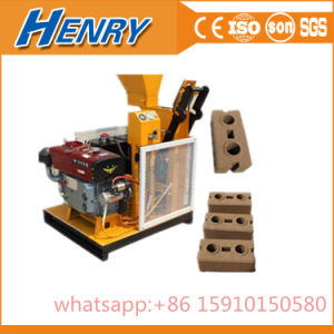 Hr1-25 Diesel Engine Power Lego Soil Clay Interlocking Brick Making Machine in Price pictures & photos