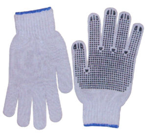 Knitting Gloves with PVC Dots pictures & photos