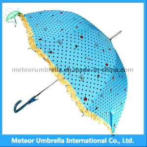 Kids/Children Beautiful Cute Blue Flower Rain/Sun Umbrella