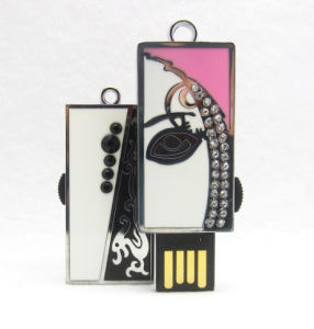 Lovely Gift Jewelled USB Flash Memory Pen Drive for Promotion pictures & photos