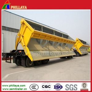 Dump Dumper Semi-Trailer Side Tipper with Front/Back Hydraulic Cylinders pictures & photos